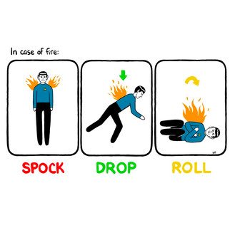 Spock, drop and roll