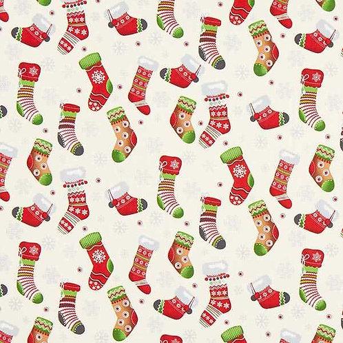 Christmas   Cotton Poplin Christmas Stocking – Offwhite