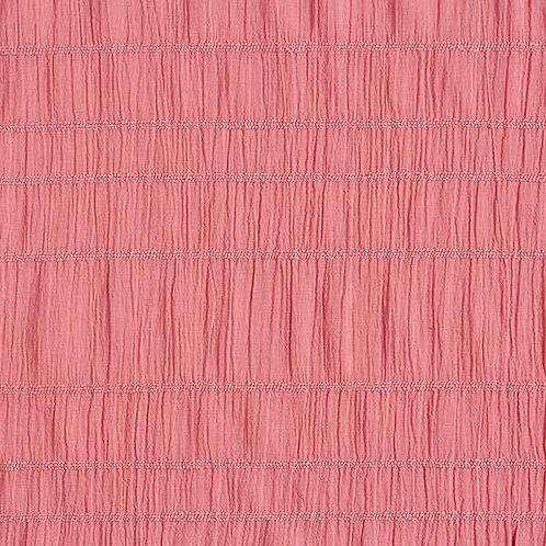 Cotton Seersucker | Dusky Pink