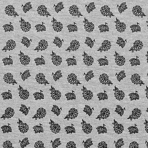 Cotton Jersey | Pique Paisley | Grey