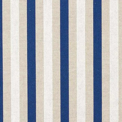 Decor | Panama Fine Stripes | Natural / Navy Blue