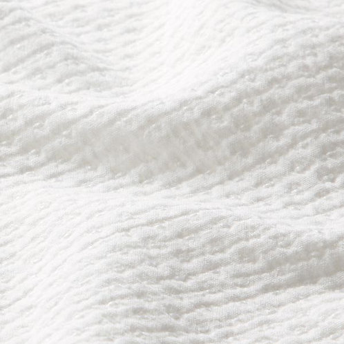 Crinkle Cotton Pique | White