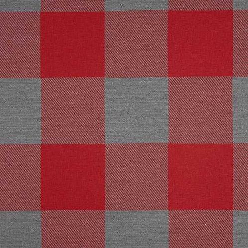Christmas | Jacquard Decor Fabric Gingham Plaid – Carmine-Grey