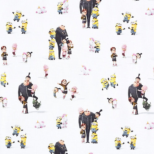 Cretonne Licensed | The Minions Family | White
