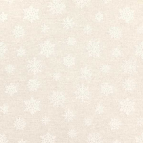 Christmas | Jacquard Decor Fabric Glitter Snowflakes – Natural-Gold
