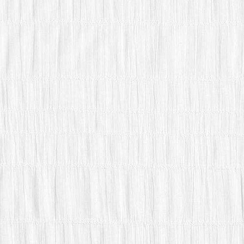Cotton Seersucker | White