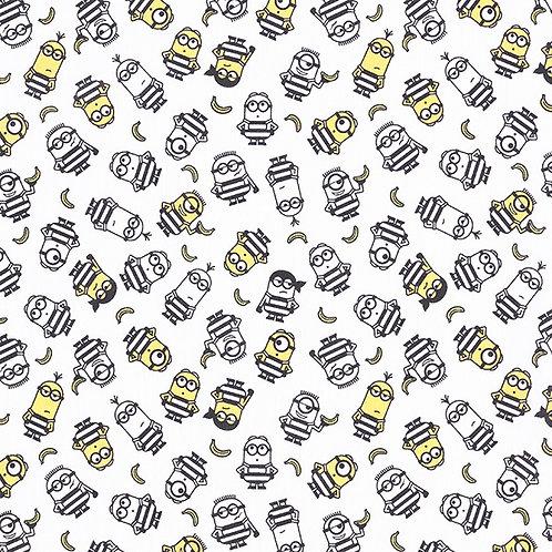 Cretonne Licensed | The Minions Love Bananas | White
