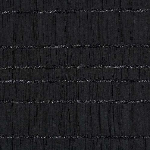 Cotton Seersucker | Black