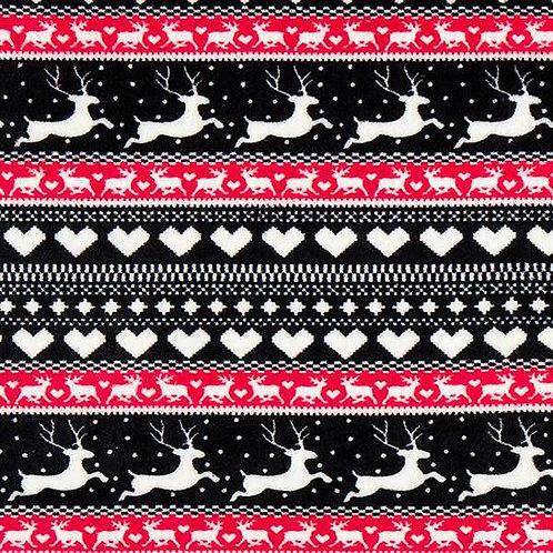 Christmas | Deer Cosy Fleece – Navy Blue