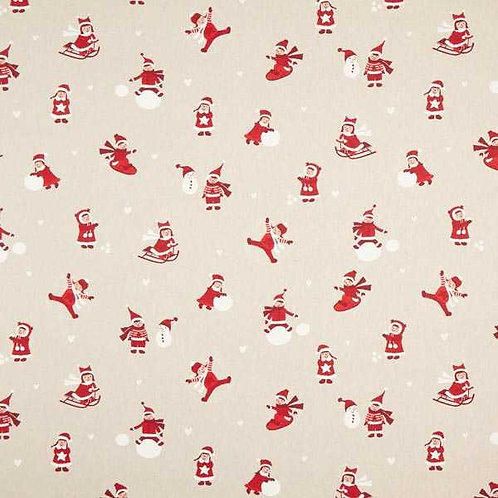 Christmas | Half Panama Decor Fabric Winter Children – Red