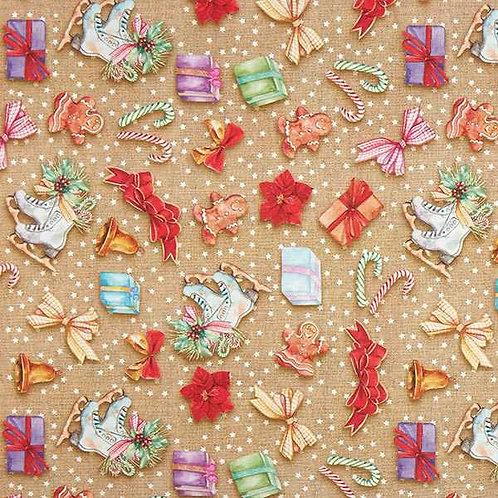 Christmas | Half Panama Decor Fabric Gifts – Natural