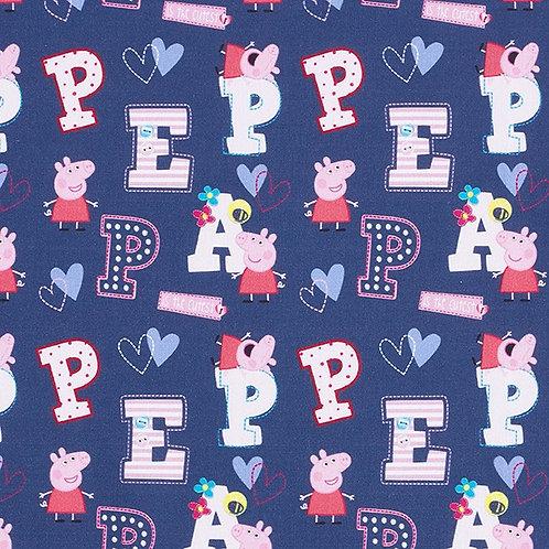 Cretonne Licensed | Peppa Pig 'Peppa' | Navy Blue