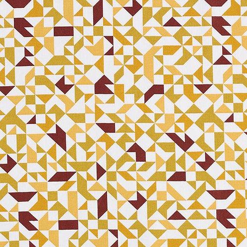 Cretonne Tangram | Mustard Red
