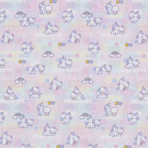 Cretonne Licensed | Hello Kitty Unicorn Love | Rosé