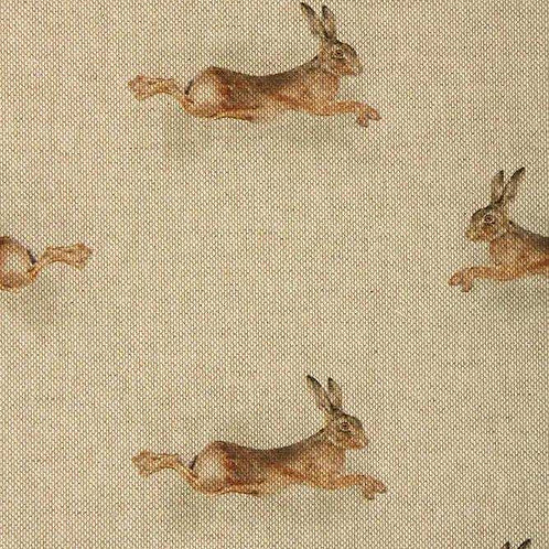 Pacing Hares | Linen
