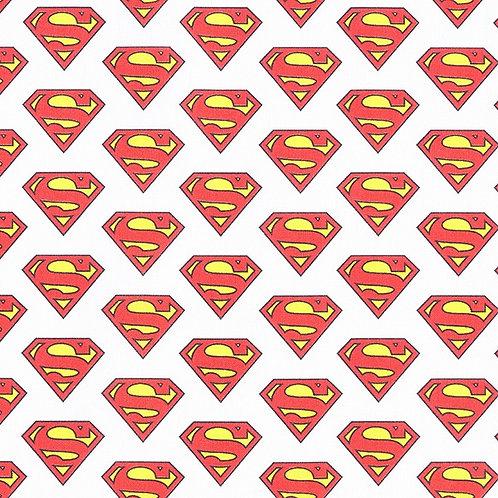 Cretonne Licensed | Superman Logo | White