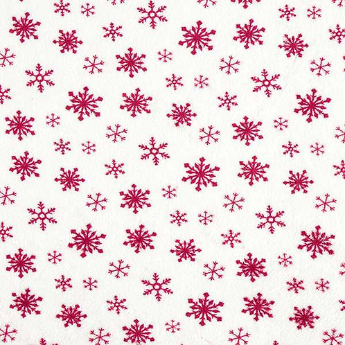 Christmas | Snowflakes Cosy Fleece – White