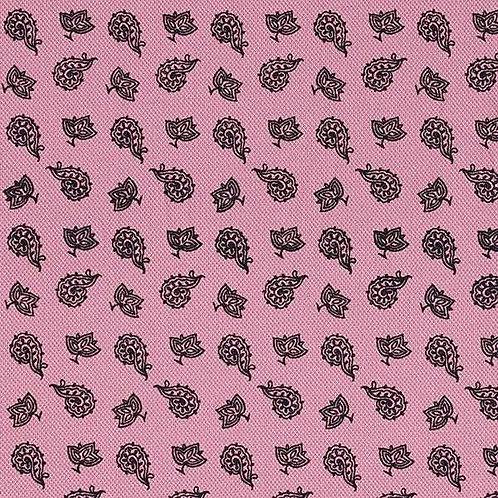 Cotton Jersey | Pique Paisley | Dusky Pink