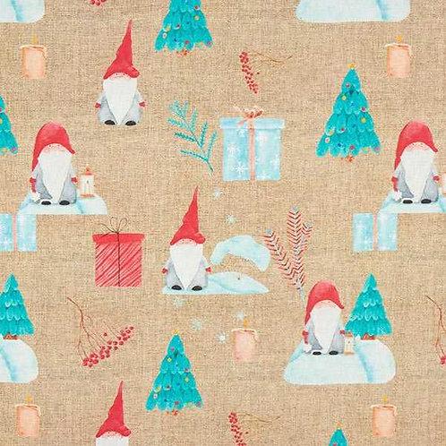 Christmas | Half Panama Decor Fabric Santa – Natural