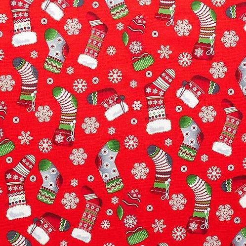 Christmas | Cotton Poplin Christmas Stocking – Red