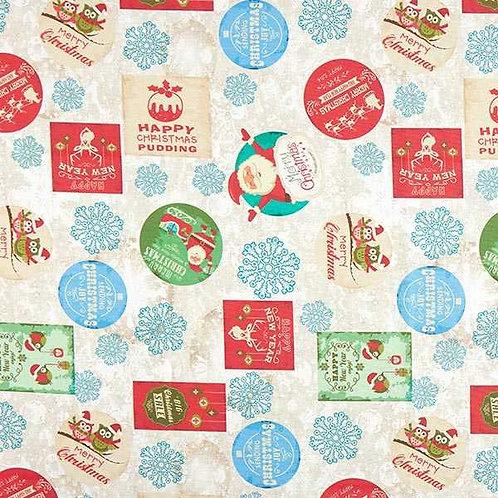 Christmas | Half Panama Decor Fabric Christmas Time
