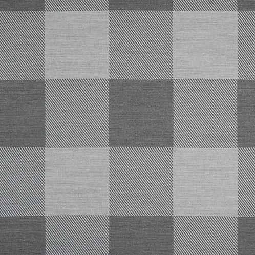 Christmas | Jacquard Decor Fabric Gingham Plaid – Grey