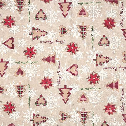 Christmas | Canvas Decor Fabric Christmas Motifs – Beige