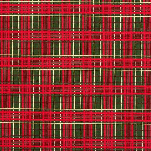 Christmas | Cotton Poplin Check – Dark Green