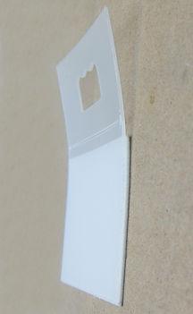 Plastic Sawtooth Hanger Option