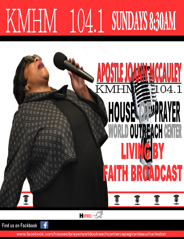 house of prayer world outreach center,LIVING BY FAITH BROADCAST