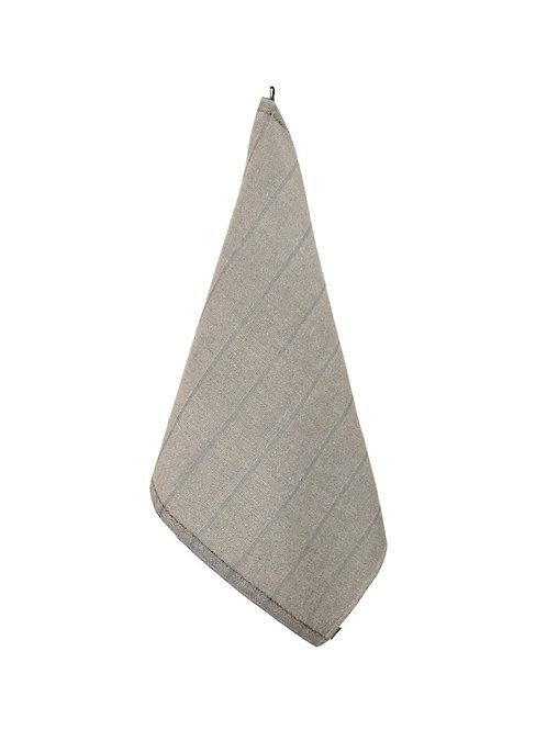 Handtuch, LAITURI, 75x50cm, natur/schwarz