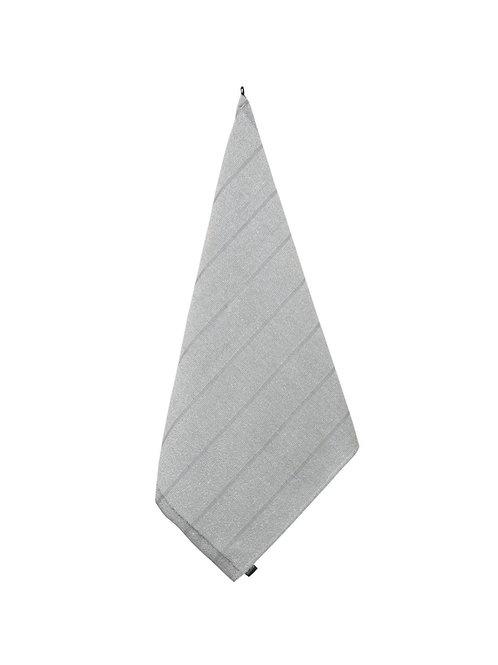 Handtuch, LAITURI, 75x50cm, weiss/grau