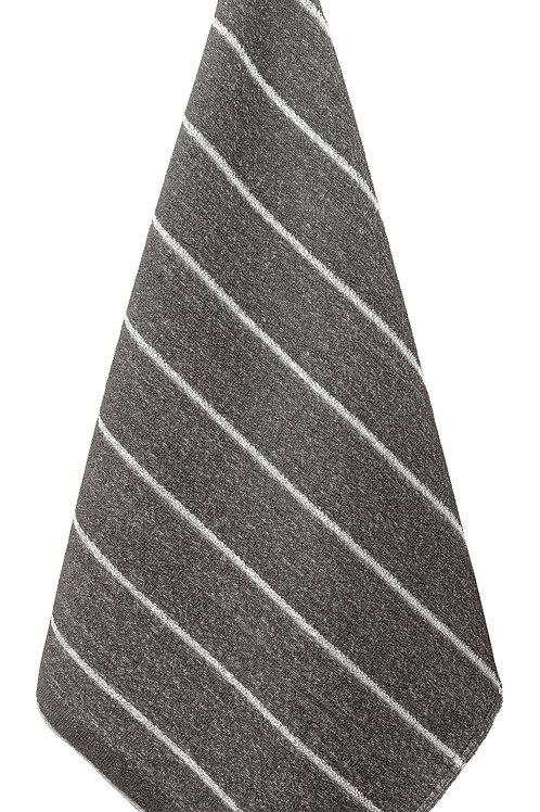 Badetuch, LIITURAITA, 75x150cm, grau/weiss