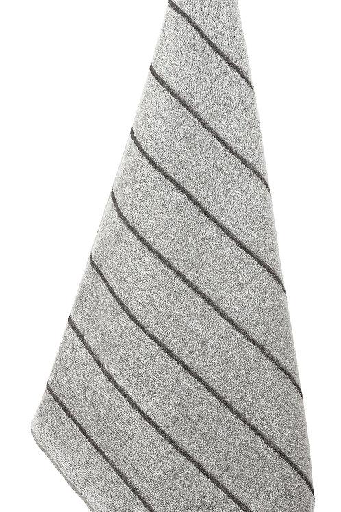 Badetuch, LIITURAITA, 75x150cm, weiss/grau