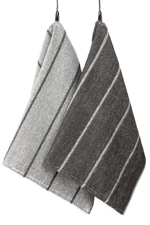 Handtuch, LIITURAITA, 75x50cm, grau/weiss