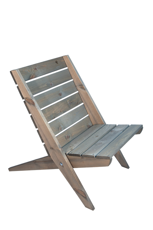 Granny Chair, Kiefer, grau