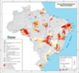 Brasil - Áreas de relevante interesse mineral para metais.