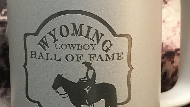 Wyoming Cowboy Hall of Fame Stainless Mugs