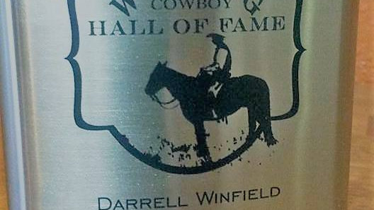 Wyoming Cowboy Hall of Fame Flask