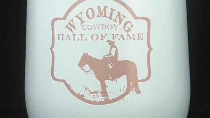 Wyoming Cowboy Hall of Fame stemless wine tumbler