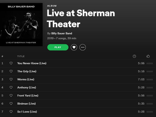 Stream 'Live at Sherman Theater' on Spotify!