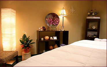 Private massage room at Massage Center.