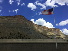 Red, White, Blue, and Cliffs