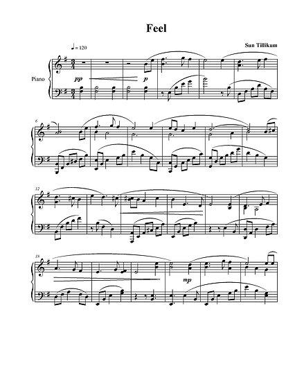 Feel - Piano Solo Sheet Music
