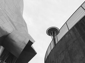 EMP Museum and Space Needle, Seattle WA