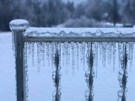 Iced Railing
