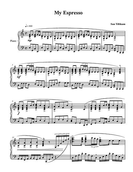 My Espresso - Piano Solo Sheet Music