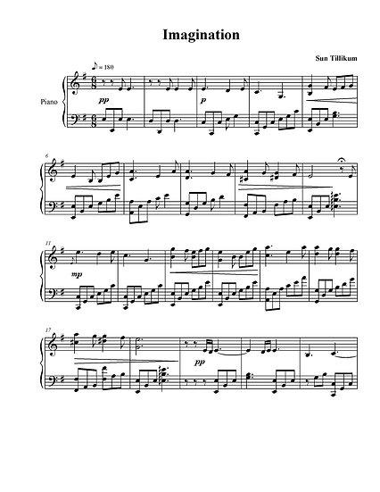 Imagination - Piano Solo Sheet Music