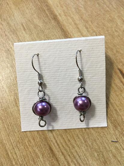 Glass Pearl Bead Earrings