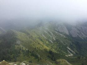 Cloudy Mountain Valley
